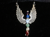 Chakra Pendant With Angel Wings